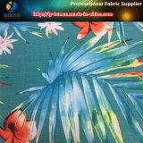 Tissu élastique en jacquard polyester avec motif tropical pour vêtements de plage / pantalons (YH2136)