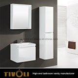 Gabinetes de banheiro eretos livres com parte superior de pedra artificial Tivo-0016vh do dissipador
