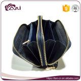 刺繍のジッパーデザインの2017の銘柄のFani PUの革女性財布