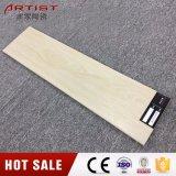 Carrelage en céramique de texture en bois jaune de couleur de Foshan