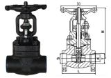A alta qualidade da válvula de porta com A105 forjou o corpo de aço