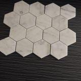 Mármore do mosaico do mármore do hexágono de Carrara da alta qualidade