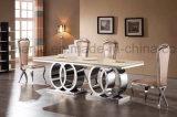 Tabela de jantar moderna da mobília da HOME do aço inoxidável (A6688#)
