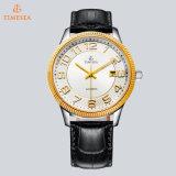 Homme automatique de luxe de montre marqué montre avec la bande en acier &Stainless 72321 de Leathe