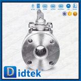 Didtek API 6D CF3m JISの5kによって減らされる穴の柔らかいシーリング浮遊球弁
