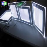 Cadre de tableau en cristal de DEL pour le cadre léger acrylique d'affiche fixée au mur