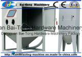 Manueller örtlich festgelegter Schwenktisch-Typ Sandstrahlen-Maschinen-Schrank für Form-Reinigung
