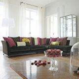 Sofà moderno del tessuto del salone della mobilia domestica (F629-15-1)