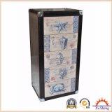[3-درور] معدن وخشب خزانة مع بناء طبعة بحريّة
