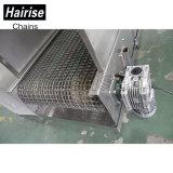 Convoyeur à bande de refroidissement d'acier inoxydable de treillis métallique de Hairise