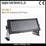 RGBW LED 72*3W 벽 세탁기 단계 점화