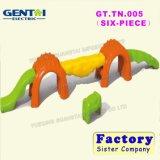 Feixe de balanço plástico das crianças do brinquedo da placa de ponte