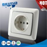 Schuko 1 socket de pared del Pin de la cuadrilla 2 con poner a tierra