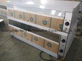 Étalage d'étalage d'acier inoxydable de buffet électrique et de réchauffeur de nourriture en verre/réchauffeur de nourriture