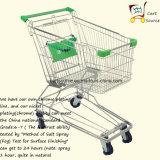 Chariot à manches supermarché de supermarché de 135 livres asiatiques