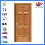 Modèle de portes stratifié par cadre de porte intérieur moulé par HDF de porte affleurante de placage de la porte Jhk-015