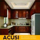 Het nieuwe Meubilair van de Keuken van de Keukenkast van de Stijl van U van de Premie In het groot Antieke Stevige Houten (ACS2-W27)