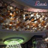 형식과 둥근 큰 크기 로비를 가진 유리제 천장 램프