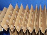 A fornalha plissada pintura do acordeão filtra o papel do ofício de Brown