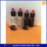 frasco de vidro preto geado 30ml do conta-gotas