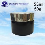 helle schwarze Aluminiumschutzkappe 53mm/400 für Glas des Glas-50g/50ml