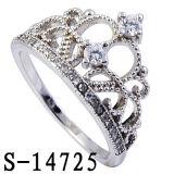 새로운 디자인 형식 보석 크라운 디자인 반지 은 925