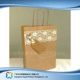 Bolso reciclable del alimento del papel de Brown Kraft/del embalaje de las compras (xc-bgk-006)