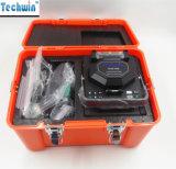 Qualitäts-optische Schmelzverfahrens-Filmklebepresse Techwin Tcw-605 aus optischen Fasern verbindene Maschinen-Schmelzverfahrens-Filmklebepresse