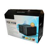 UPS de la C.C. del Poe 45W para CCTV, ranurador, cámara del IP