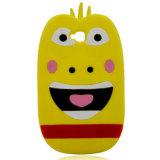 Caisse animale de silicones de téléphone cellulaire de dessin animé du modèle 3D de type populaire