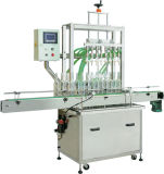 Máquina de etiquetado linear sanitaria de la máquina de rellenar del aceite de mesa del acero inoxidable del alimento automático