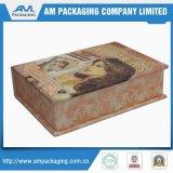 La aduana de las ventas al por mayor imprimió diseño cosmético de papel de lujo hecho a mano de los rectángulos de la pequeña manera