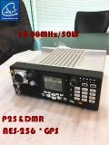 radio móvil de 50W Manpack en 30-88MHz con modo analogico y de Digitaces