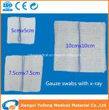 Medizinischer Baumwollröntgenstrahl-nachweisbarer saugfähiger Gaze-Schwamm 100%