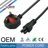 Силового кабеля штепсельной вилки 3pin оптовой продажи 075mm Sipu провод UK электрический