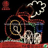 LEIDEN Silhouet 64*60cm Decoratie van Kerstmis van het Motief van de Lichten van de Kabel van de Trein de Lichte met Ce