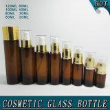 Bernsteinfarbige Glaskarosserien-Lotion-Großhandelsflasche mit Pumpe