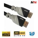 Kabel des Hochleistungs--2.0 4k 2160p HDMI mit Gold überzogenen Verbindern
