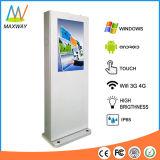 De openlucht LCD Kiosk van de Vertoning van het Scherm van de Aanraking met Nano Capacitieve Facultatief