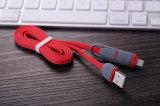 2 en 1 cable certificado Mfi de la carga y de datos del USB para el iPhone y el androide