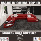 Sofa moderne de coin de cuir de meubles de salle de séjour (LZ-2217)
