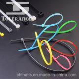 Auto da ferramenta do laço de fio que trava as cintas plásticas de nylon
