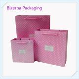 Rosafarbene Farben-Papierverpackendruck-Beutel