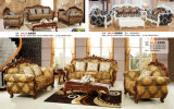 Sofá de Dubai, sofá de cuero, sofá real (B003)