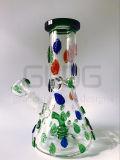 14 Zoll 5 mm Stärken-Eis kerbt Becher-niedriges rauchendes Wasser-Glasrohr mit Fabrik-Preis ein