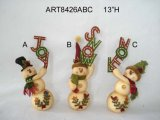 Decoración Gift-2asst. del muñeco de nieve y de la guirnalda de la media