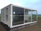 주문을 받아서 만들어진 변경된 콘테이너 조립식으로 만들어지는 조립식 햇빛 룸 또는 집