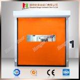 Orange Vorhang rollen oben Hochgeschwindigkeitswalzen-Blendenverschluss-Tür mit Reißverschluss-Typen