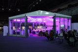Hexagon Tenten van het Frame van het Aluminium van de luxe met de Muur van pvc van de Muur van het Glas