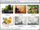 3D Beautiful Art Picture Background Wall Glazed Tiles (VPA6A310)